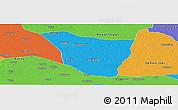 Political Panoramic Map of Vaishali