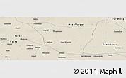 Shaded Relief Panoramic Map of Vaishali