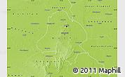 Physical Map of Delhi
