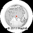 Outline Map of Delhi