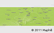 Physical Panoramic Map of Delhi