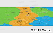 Political Panoramic Map of Delhi
