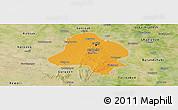 Political Panoramic Map of Delhi, satellite outside