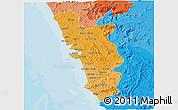 Political Shades 3D Map of Goa