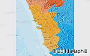 Political Shades Map of Goa