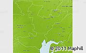 Physical 3D Map of Ahmadabad