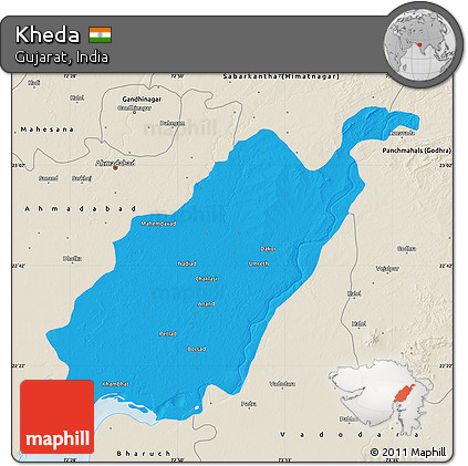 Free Political Map of Kheda, shaded relief outside on jamnagar india map, sanand india map, kutch india map, dandi india map, khasi hills india map, nadiad india map, anand india map, vadodara india map, rajkot india map, cambay india map, gujarat india map, naroda india map, raipur india map, porbandar india map, surat india map, ahmedabad india map,