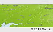 Physical Panoramic Map of Kheda