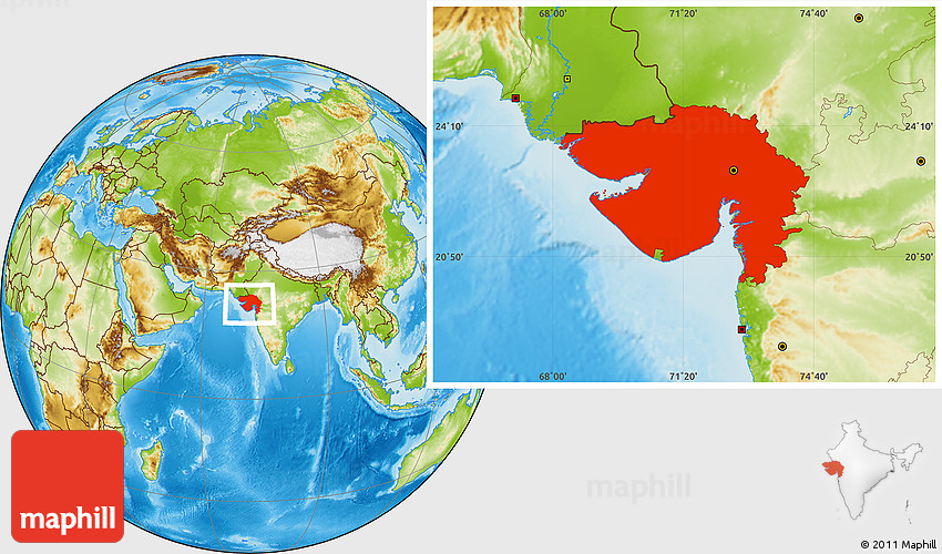 Physical location map of gujarat 2d gumiabroncs Choice Image