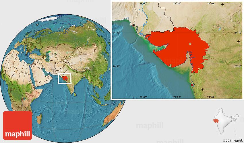 Satellite location map of gujarat gumiabroncs Choice Image
