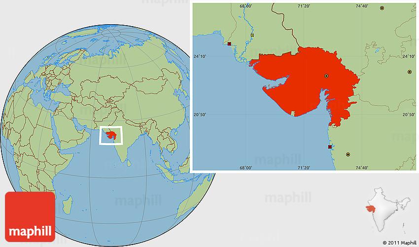 Savanna style location map of gujarat 2d gumiabroncs Choice Image