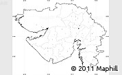 Blank Simple Map of Gujarat, no labels