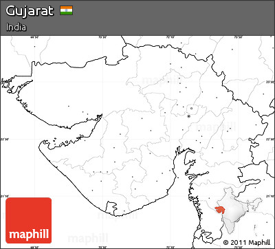 Free Blank Simple Map Of Gujarat No Labels