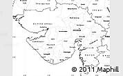 Blank Simple Map of Gujarat