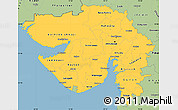 Savanna Style Simple Map of Gujarat