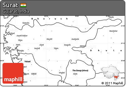 Free Blank Simple Map of Surat