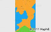 Political Simple Map of Ambala