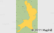 Savanna Style Simple Map of Ambala