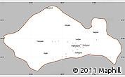 Gray Simple Map of Kurukshetra, cropped outside