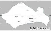 Gray Simple Map of Kurukshetra, single color outside