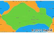 Political Simple Map of Kurukshetra