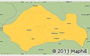 Savanna Style Simple Map of Kurukshetra
