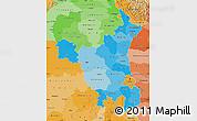 Political Shades Map of Haryana
