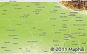 Physical Panoramic Map of Haryana
