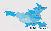 Political Shades Panoramic Map of Haryana, cropped outside