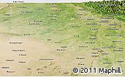 Satellite Panoramic Map of Haryana