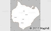 Gray Simple Map of Yamunanagar, cropped outside