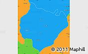 Political Simple Map of Yamunanagar