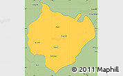Savanna Style Simple Map of Yamunanagar