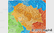 Political Shades 3D Map of Himachal Pradesh
