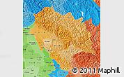 Political Shades Map of Himachal Pradesh