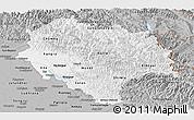 Gray Panoramic Map of Himachal Pradesh