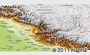 Physical Panoramic Map of Himachal Pradesh