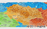 Political Shades Panoramic Map of Himachal Pradesh