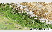 Satellite Panoramic Map of Himachal Pradesh