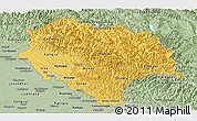 Savanna Style Panoramic Map of Himachal Pradesh