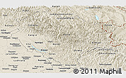 Shaded Relief Panoramic Map of Himachal Pradesh