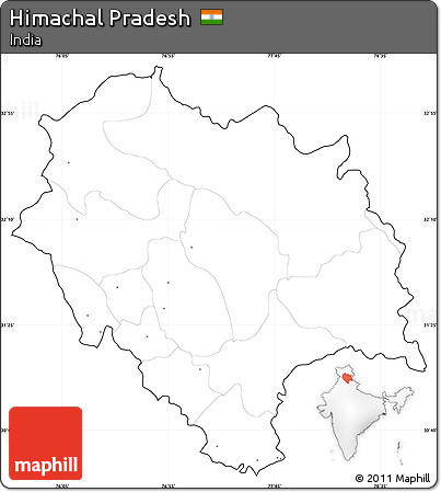 outline himachal pradesh political map Free Blank Simple Map Of Himachal Pradesh Cropped Outside No Labels outline himachal pradesh political map