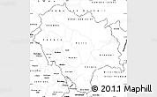 Blank Simple Map of Himachal Pradesh
