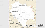 Classic Style Simple Map of Himachal Pradesh