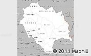 Gray Simple Map of Himachal Pradesh