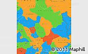 Political Simple Map of Himachal Pradesh