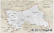 Classic Style 3D Map of Jammu and Kashmir