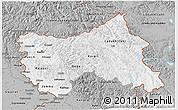 Gray 3D Map of Jammu and Kashmir