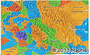 Political 3D Map of Jammu and Kashmir