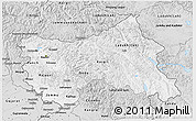 Silver Style 3D Map of Jammu and Kashmir